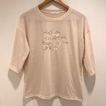 七分丈ロゴTシャツ