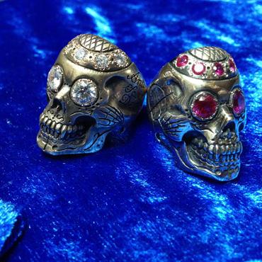 Pinstripe Skull Ring