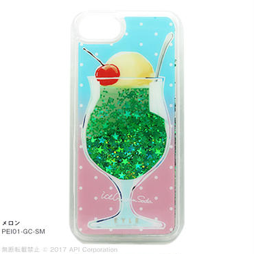 EYLE Glitter Case クリームソーダ for iPhone 8/7/6s/6