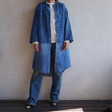 Remake denim shirt dress A