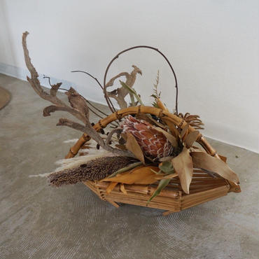 Bamboo basket arrangement