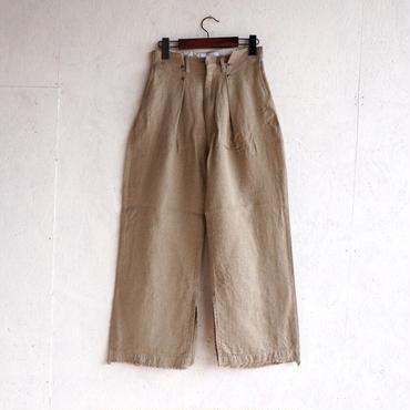 PHEENY Linen rayon shiny tuck pants