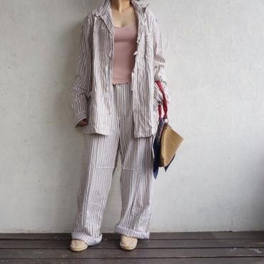 Deadstock pajamas shirts BEIGE