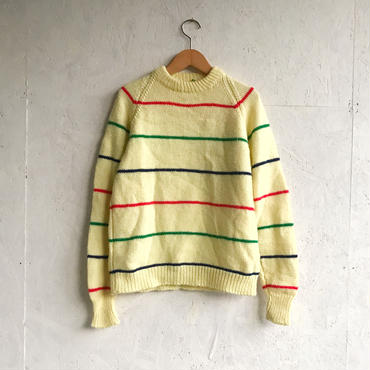 Vintage multi border knit