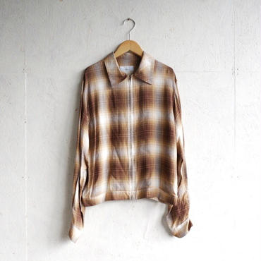 PHEENY Rayon ombre check zip-up blouson〈BOYS〉
