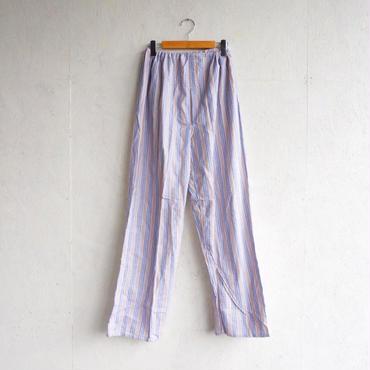 Deadstock pajamas pants BEIGE×BLUE