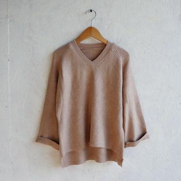 APPRECIATIVE V/N Roll-up sleeve knit