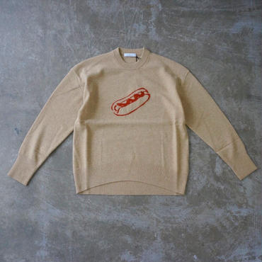 PHEENY wool cashmere jacquard P/O knit (hot dog)