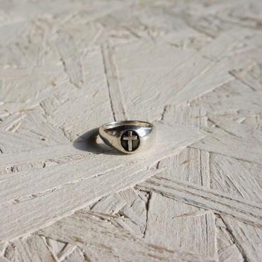 Vintage silver ring cross #8