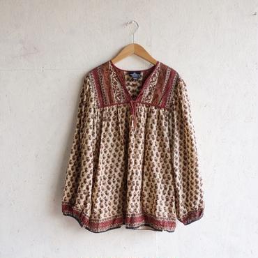Vintage 70's  ANGIE indian cotton blouse