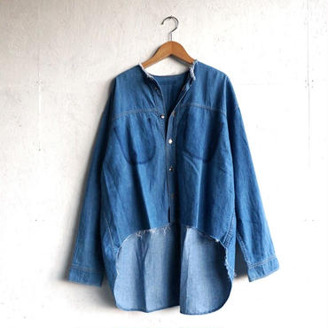 APPRECIATIVE Remake cutoff denim Shirt E