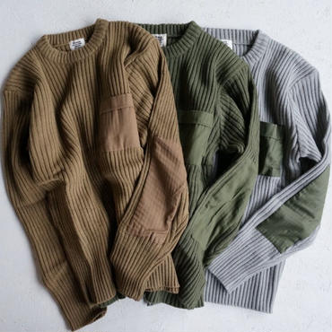 Military patched knit