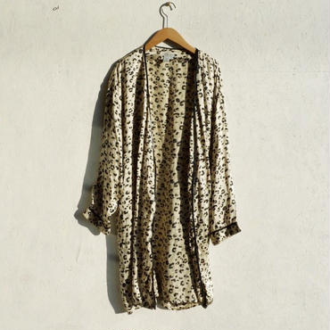 USED silk leopard gown