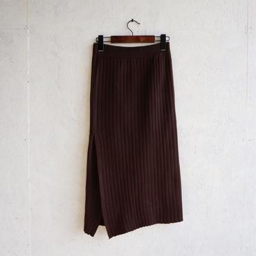 APPRECIATIVE Rib slit tight skirt
