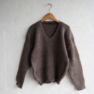 Vintage Sweden V neck rib knit