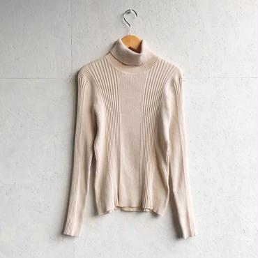 Vintage multi rib high neck knit