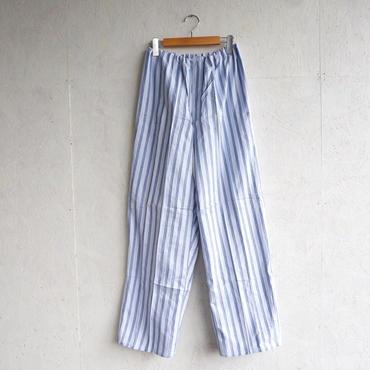 Deadstock pajamas pants WHITE×BLUE