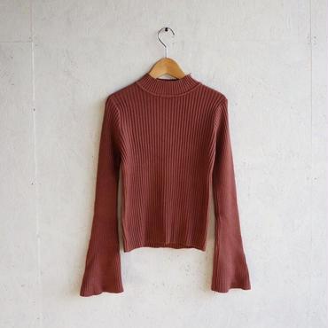 APPRECIATIVE Flare sleeve rib knit