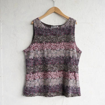 Used flower lace n/s top