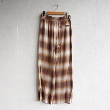 PHEENY Rayon ombre check 2tuck slacks