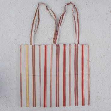 PHEENY Cotton linen rayon stripe tote bag