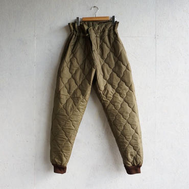 Vintage Czech military quilting linner pants