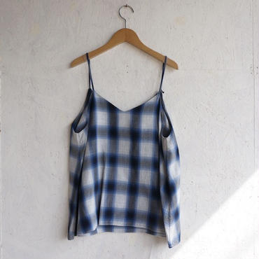 PHEENY Rayon ombre check camisole