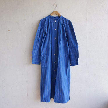 Deadstock stripe hospital no coller gown
