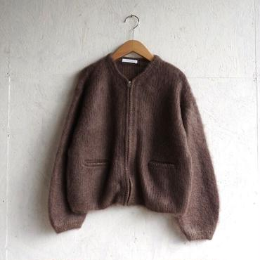 PHEENY Mohair zip-up knit cardigan