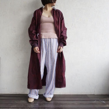 Deadstock surgical gown BURGUNDY