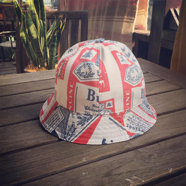 No,4 Vintage Fabric Bucket Hat Budweiser
