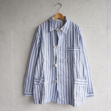 Deadstock pajamas shirts WHITE×BLUE