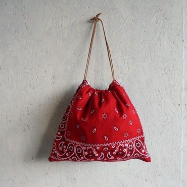 APPRECIATIVE Vintage fabric purse bag bandannaB