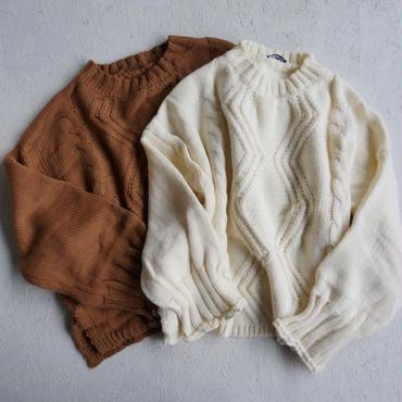 APPRECIATIVE Drop shoulder cable knit