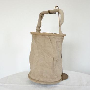 Vintage  french military linen bucket bag