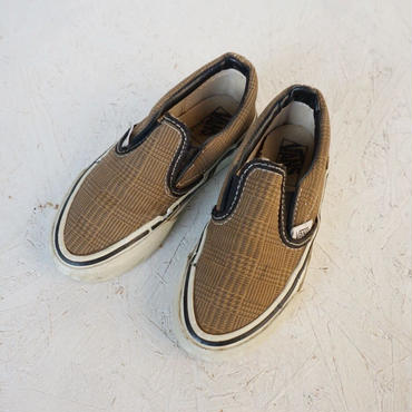 《Kids》Vintage  80's Vans slip on  18cm