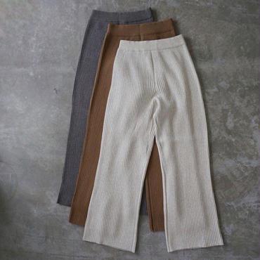 PHEENY 12G 4×3 rib knit pants