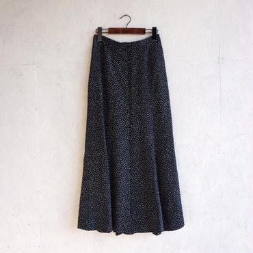 PHEENY Rayon dot button-down skirt