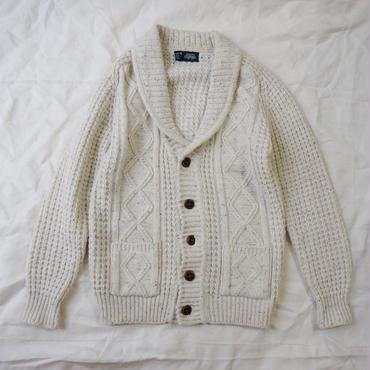 Used showl collar fisherman knit
