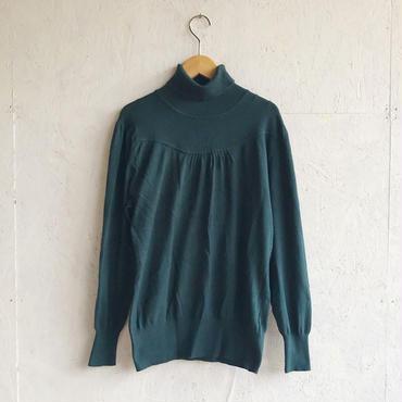 Vintage high neck knit D.green