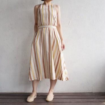 PHEENY Cotton Iinnen rayon stripe dress