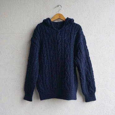 Vintage hooded cable knit