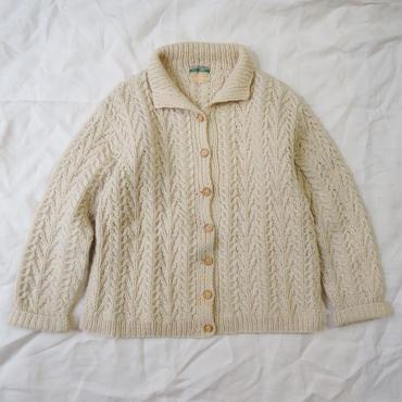 Used fisherman knit cardigan