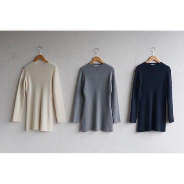 PHEENY 2×2 rib knit bottleneck L/S