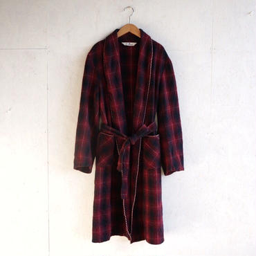 Vintage wool check gown red