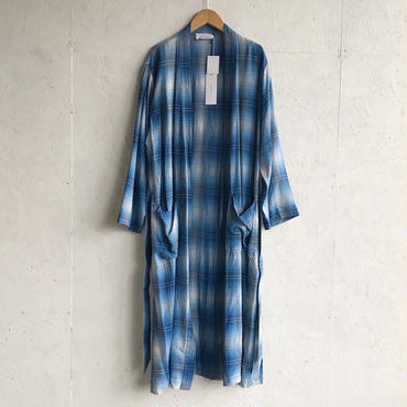 PHEENY Rayon ombre check robe