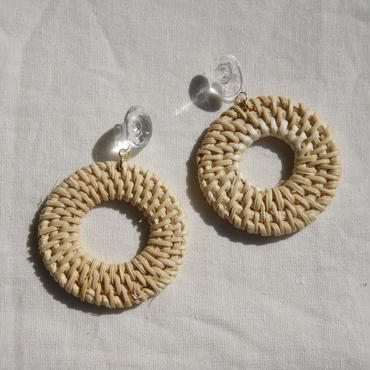 APPRECIATIVE Rattan earring