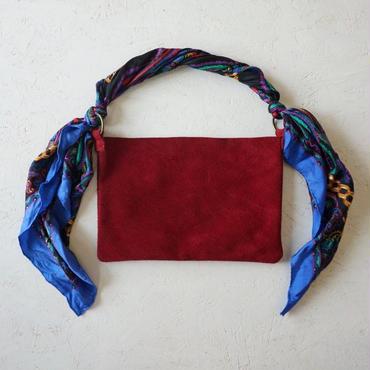 APPRECIATIVE Suede bag RED