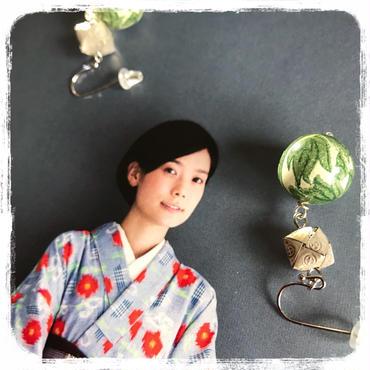 折り紙シリーズ ヨモギ ピアス or イヤリング