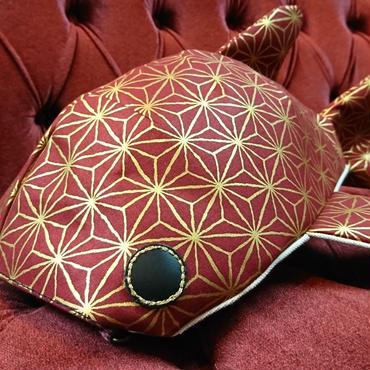 KASEI/かせい 小サメショルダー 麻の葉(赤)